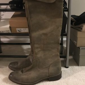 Frye over the knee boots, brown Sz.9
